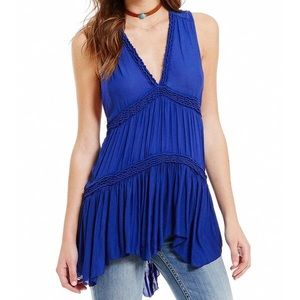 Free People | V-neck Tiered Ruffle Tunic Tank Top